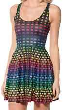 BLACK MILK SMALL RAINBOW SPACE INVADER SCOOP SKATER DRESS MUSEUM