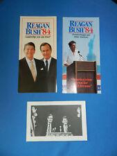 1980 RONALD REAGAN &   GEORGE H. BUSH  CAMPAIGN POLITICAL  Items lot of three