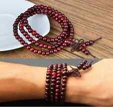 Sandalwood Buddhist Buddha Meditation 108 Prayer Beads Mala Necklace Bracelet IL
