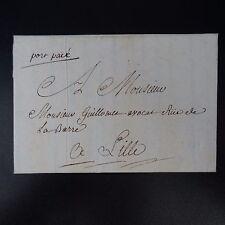 """1778 LETTRE COVER """"port paié"""" MANUSCRIT DE GORGUE (PRES D'ARMENTIÈRES) PR LILLE"""