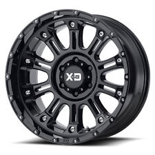 18x9 BLACK wheels XD829 HOSS 2 1990-2010 CHEVY GMC 2500 3500 Trucks 8X6.5 +18mm
