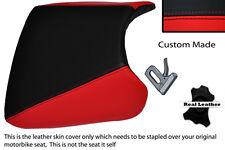 BLACK & RED CUSTOM FITS HONDA CBR 900 RR FIREBLADE 93-99 LEATHER SEAT COVER
