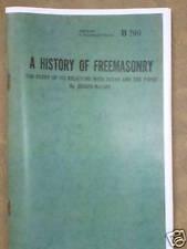 A HISTORY OF FREEMASONRY WITH SATAN AND THE POPES BOOK~Anti-Catholic~Jesuits~NWO