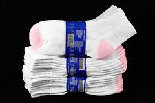 9-11  Athletic Anklet Cotton Pink Heel & Toe Socks Unisex Ankle Cut