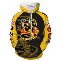The Karate Kid Cobra Kai Jacket Hoodie 3D Pullover Sweatershirt Costume Coat Top