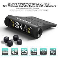 LCD Solar Kabellos Auto TPMS Reifendruck Überwachung Kontroll System+4 Sensorens