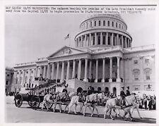 JOHN F. KENNEDY FUNERAL Washington DC * VINTAGE Classic CAISSON 1963 press photo
