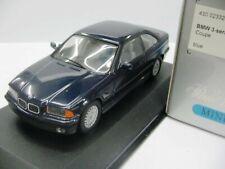WOW EXTREMELY RARE BMW E36 1992 325i 24V Coupe Blue 1:43 Minichamps-323/M3/GTR