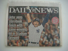 2014 New York Daily News Newspaper New York Yankees Derek Jeter's final game