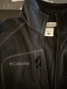 Columbia Fleece Half Zip Black Pull Over Sweatshirt Sz XL New!