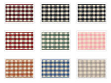 Natural Gingham Ribbon by Berisfords UK 10mm 15mm 25mm 8 Shades and 5 Lengths