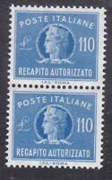 Italy 1977 - Concessional Letter Post - 110L Blue Pair - SG CL919 - MNH (D18E)