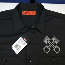 NEW DICKIES MOTORCYCLE CAR RACING ENGINE PISTONS PIT CREW WORK SHIRT Sz Mens XXL