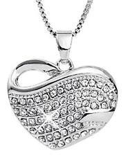 Elegant White Gold Filled Heart Shaped Necklace & Pendant JD-081