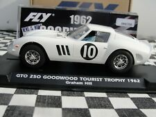 FLY FERRARI GTO 250 'GOODWOOD TOURIST TROPHY 62' WHITE #10 E2012 1:32 SLOT BNIB