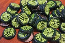 100 JACKS ABBY BREWERY BEER BOTTLE CAPS NO DENTS LIME FOREST GREEN FREE FAST SHP