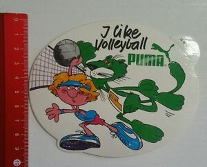 Aufkleber/Sticker: Puma - I like Volleyball (12031664)