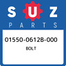 01550-0612B-000 Suzuki Bolt 015500612B000, New Genuine OEM Part