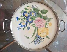 Vassoio in porcellana Liberty Art Nouveau Germania Inizio 900 Aerografo