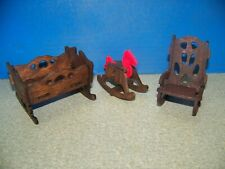 new wooden dollhouse nursery furniture