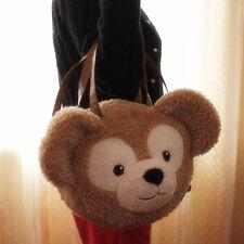 JAPAN Disney Sea Duffy bear plush Big 2-way shoulder bag handbag face head