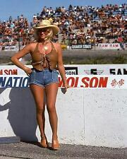 Vintage Drag Racing Pin Up Hot and Sexy Linda Vaughn Back Up Trophy Girl