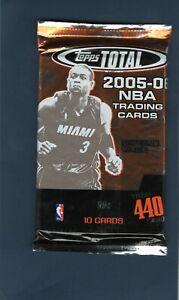 2005-06 Topps Total Basketball Sealed Pack Possible Chris Paul RC PSA Kobe James