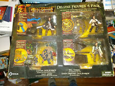 DISNEY PIRATES OF THE CARIBBEAN DELUXE FIGURES 4 PACK NEW 00220 wear