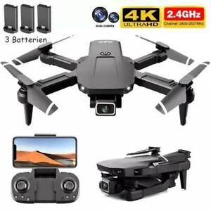 *3 Batterien* Faltbar WIFI FPV Drohne mit 4K HD Kamera Mini Selfie Quadrocopter