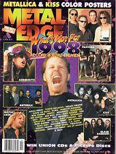 1998 (Apr.) Metal Edge Hard Rock Magazine,KISS,Metallica,Van Halen,Black Sabbath
