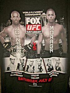 UFC Seattle Event T-Shirt Demetrius Johnson vs John Moraga Size Medium