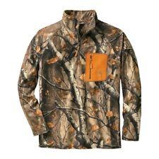 Legendary Whitetails Men's Marksman Camo Quarter Zip Grid Pullover Fleece Jacket