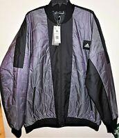 ADIDAS Multi Sport URBAN Men 2XL Quilted Jacket Logo Patch Purple Black NWT $120