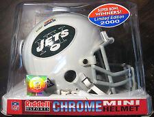 NEW YORK JETS SUPER BOWL 3 CHROME MINI HELMET NFL LIMITED EDITION 2000