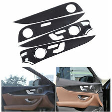 ABS Carbon Inner Door Handle Cover Panel Trim For Mercedes Benz E-Class W213