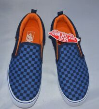 Blue Vans Checkers Size UK 6   Brand New Free Post