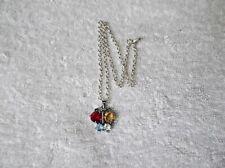Ex-Display Pequeño Collar de Mariposa con diamantes de imitación de color