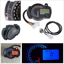 Dual Colour 15000rmp Motorcycles LCD Digital Speedometer Tachometer Meter Gauge
