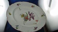 molto antico grande piatto ovale porcellana tedesca ludwigsburg