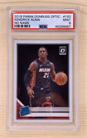 2019 Panini Donruss Optic KENDRICK NUNN Rookie RC Card #193 PSA 9 Miami Heat