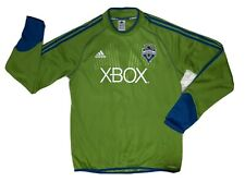 Adidas Seattle Sounders FC Men's Pullover Size Large MLS XBOX Green Shirt Top