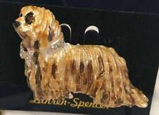 Komondor Dog Pin Brooch Austrian Crystals by Lauren Spencer New