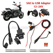 12V 2.1A Waterproof Motorcycle SAE to USB GPS Phone Charger Cable Adapter