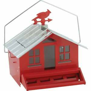 Perky-Pet Squirrel-Be-Gone Metal Country Bird Feeder, Red 338  - 1 Each