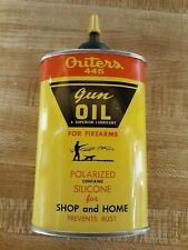 Vintage Outers 445 Full Gun Oil Tin in Mint Condition