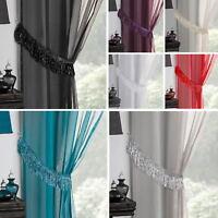 Savannah Tassle Fringe Sparkle Bling Shimmer Curtain Tie Backs Tie Ropes Pair