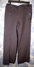 Bamboo Traders cotton  pants sz 4 brown NWT