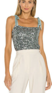 Free People Sequin Cami Top - Size XS RRP £62