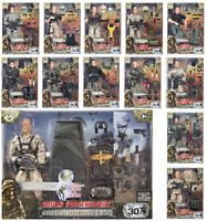 "World Peacekeepers 12"" Action Figures Military Army Action Figures or Halo BNIB"