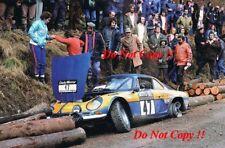 Pat Moss-Carlsson Alpine-Renault A110 1800 RAC Rally 1973 Photograph 1